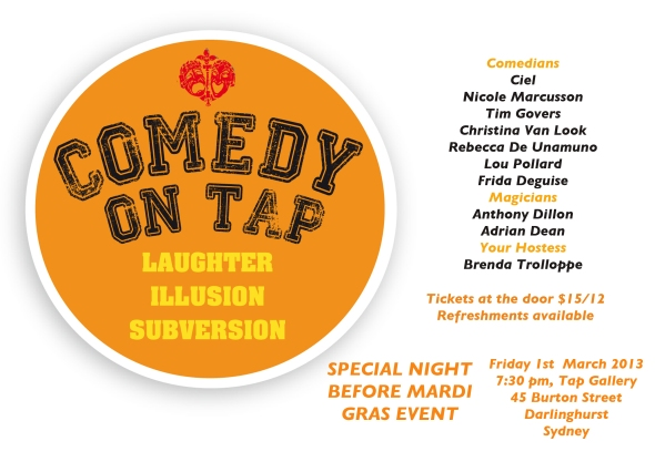 Comedy On Tap - fabulous live comedy